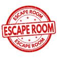 escape room grunge rubber stamp vector image vector image