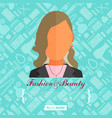 fashion flat background vector image vector image