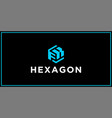 fk hexagon logo design inspiration vector image vector image