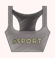 flat shading style icon sports top vector image
