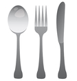 Fork Knife and Spoon vector image