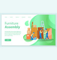 furniture assembly unpacking and installing items vector image vector image