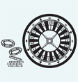Gambling Roulette and chips vector image vector image