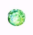green watercolor blob vector image vector image