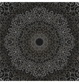 Grey Circle Lace Ornament vector image