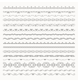 Hand Drawn Tileable Line Borders Dividers vector image vector image