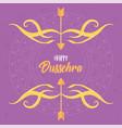 happy dussehra festival india lettering arrows vector image vector image