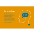 Head with speech bubble vector image vector image