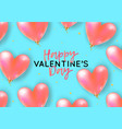holiday romantic with realistic 3d flying bunch vector image