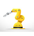 industrial machine robotic hand arm machinery vector image vector image