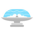 isolated water fountain icon vector image