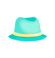 light blue hat for women on vector image vector image