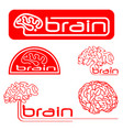 logotypes of brain vector image vector image