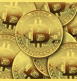 many bitcoins on white background vector image vector image