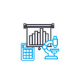 means of analytics thin line stroke icon vector image vector image