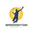 mens badminton sports logo vector image vector image
