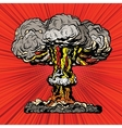 Nuclear explosion radioactive mushroom pop art vector image vector image