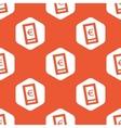 Orange hexagon euro screen pattern vector image vector image