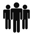people meeting icon simple style vector image