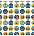 Photo camera set pattern vector image vector image