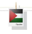 photo of palestine flag vector image