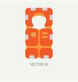 plain flat color beach rescue equipment vector image