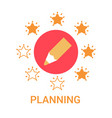 planning icon business strategy development banner vector image