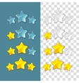 Ranking stars game elements in cartoon vector image