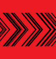 red black arrow pattern direction seamless vector image