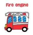 Red fire engine cartoon vector image