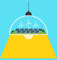 renewable and green energy concept flat design vector image