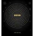 Round calendar for 2016 year Week Starts Sunday vector image
