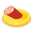 sausage icon isometric 3d style vector image