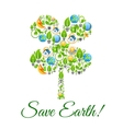 Save Earth environment protection concept vector image vector image
