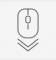 scroll down computer mouse icon vector image vector image