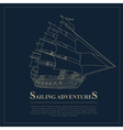Set of sailing boat and nautical logos vector image vector image