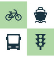 shipment icons set collection of stoplight vector image vector image