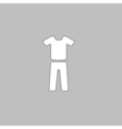 sport suit computer symbol vector image