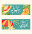 summer cards collection vector image vector image