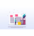 tax concept with tiny people can use for web vector image