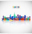 tbilisi skyline silhouette in colorful geometric vector image vector image
