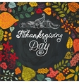 Thanksgiving dayAutumn leaves in circle vector image