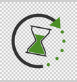 time icon flat with hourglass on isolated vector image vector image