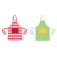 two aprons with kitchen patterns vector image vector image