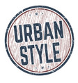 urban style sign or stamp vector image