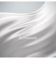 White milky silk fabric vector image vector image