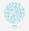 world asthma day concept in circle vector image vector image