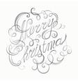 Merry Christmas inscription retro calligraphy vector image