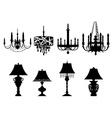 Set of chandelier designs vector image