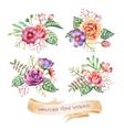 Watercolor Bouquets vector image